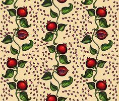 pomegranates fabric by theposhvagabond on Spoonflower - custom fabric - super cute!