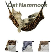 SUPREPET Hanging Cat Hammock Pet Supplies Cat Sleeping Bag Pet Cat Cage Breathable Double-sided Available Warm Cat Bed Mat Chinchilla, Pet Hammock, Hanging Hammock, Gatos Cat, Cat Cages, Ferret Cage, Fur Bedding, Cat Basket, Lazy Cat