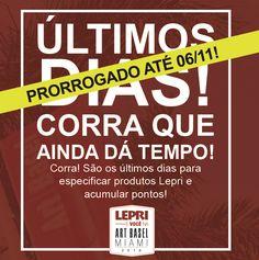 É a sua chance de viajar com a Lepri para uma das mais  importantes feiras de arte do mundo!    Prorrogamos para compras feitas até 06 de novembro de 2016 em todas as lojas do Brasil. Então aproveite e acumule pontos para não ficar de fora!