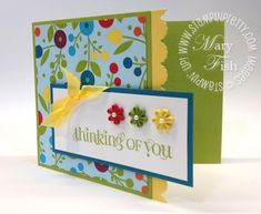 Spring themed card using Curly Cute stamp set.  Designed by Mary Fish, Independent Stampin' Up! Demonstrator. Details, supply list and more card ideas on http://stampinpretty.com/2012/03/pals-blog-hop-spring.html