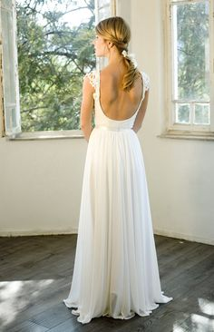 Romantic vintage inspired wedding gown Custom by MotilFineDesign