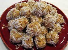 Orange Balls -- leave the nuts out. If you don't like coconut you could roll thm in powdered sugar. A holiday favorite - easy and yummy.