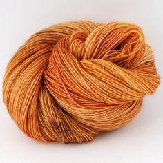 Orange Tabby (75% Superwash Merino Wool 25% Silk; yardage: 400m/ 437 yards per 100 gm/ 3.5 oz hank)