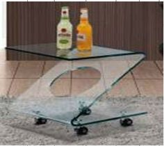 Z Shape glass end table