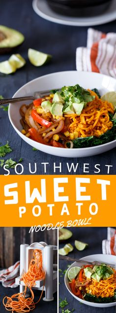 SWEET POTATO NOODLE - A great way to use a spiralizer in a easy to make recipe.