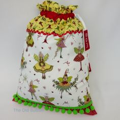 Christmas Fairies Santa Sack - Personalised - £40 by The Old Button on #Craftfest
