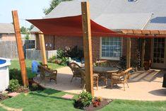 Pergola Attached To House Shade Sails Trendy Ideas Backyard Shade, Outdoor Shade, Pergola Shade, Backyard Patio, Carport Shade, Deck Shade, Pergola Attached To House, Deck With Pergola, Curved Pergola
