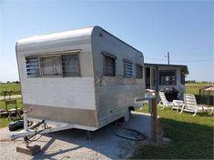 Camper Trailer For Sale, Vintage Campers Trailers, Camper Trailers, Canned Ham Camper, Toilet Closet, Handmade Cabinets, Breaker Box, Build A Camper, Little Campers