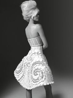 White dress. Fall 2011 Atelier Versace couture collection.