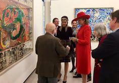 ♥•✿•QueenMaxima•✿•♥...Queen Maxima of The Netherlands and Queen Mathilde of Belgium visited the Cobra Museum in Amstelveen