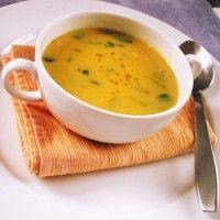 Sopa de grão de bico com agrião