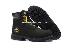 a5064c32bf9f 2017 New Timberland Women s 6 Inch Boot-Black and Gold Outlet UK £72.00
