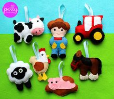 Make Your Own Felt Farmyard Collection Kit. by PollyChromeCrafts