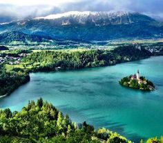 Lake Bled (Slovenia) - This church is featured in a unique location and known for making dreams come true. After the original bell got destroyed in a storm the Pope called for a new one to be made. Whoever rings this gets his or her wish come true. Explore more on www.mapiac.com