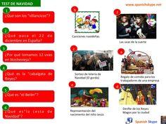 ¿Qué sabes de la Navidad en España? Mira este test y relaciona las preguntas con las respuestas ¡Feliz Navidad!