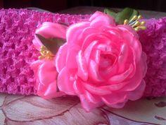 опаска канзаши с розовыми розами