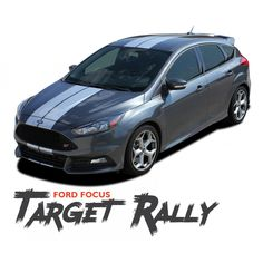 5eb520f50c Ford Focus TARGET RALLY Bumper to Bumper Racing Stripes Vinyl Graphics  Decal Kit 2016 2017 2018