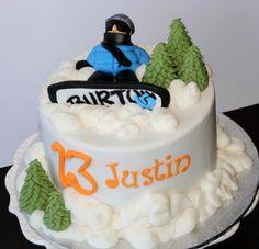 Snowboarder Cake - Cake by Kellie Witzke