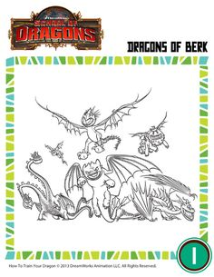 Dragon coloring page from the movie How to Train Your Dragon