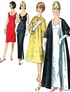 1960s Evening Dress Pattern Simplicity 5710 Womens by paneenjerez, $45.00