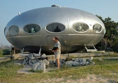 Futuro Home, designed by Matti Suuronen. The village where I grew up had two of these (and they are still there!).