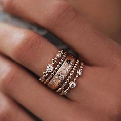 Your new favorite ring set Shop now with 20% OFF Use code BOHEMIAN20 at checkout. #GoldJewelleryWithPrice #jewelrylove