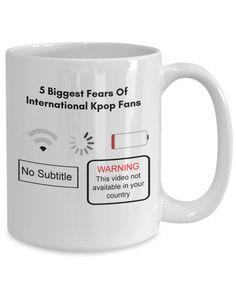Funny Kpop Mug – Best Kwave K-Pop Merchandise For Korean Addicts, Korean Oppa Lovers – Kpop Merch BT Mug, Trigger Happy, Biggest Fears, Kpop Merch, Music Lovers, Bts Wallpaper, Korean Drama, Kdrama, Memes