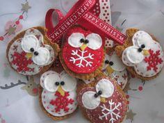 Christmas little owl decoration
