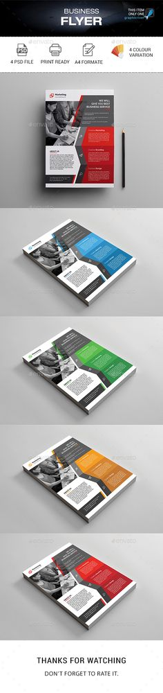 #Business #Flyer - #Corporate Flyers Download here:  https://graphicriver.net/item/business-flyer/20430447?ref=alena994