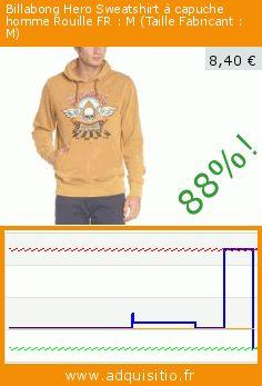 Billabong Hero Sweatshirt à capuche homme Rouille FR : M (Taille Fabricant : M) (Sports Apparel). Réduction de 88%! Prix actuel 8,40 €, l'ancien prix était de 70,00 €. https://www.adquisitio.fr/billabong/hero-sweatshirt-capuche-1