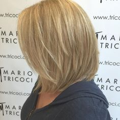 Tapered Blonde Bob