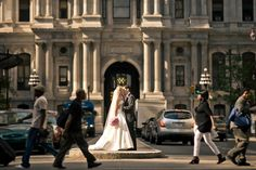 In Your Own World on a Busy Street... Must have wedding photos