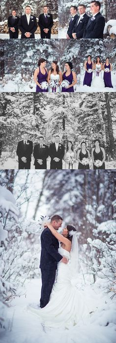 Prettiest winter wedding photos ever!