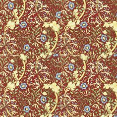 Red Seaweed fabric by amyvail on Spoonflower - custom fabric.  Classic William Morris pattern, released for sale 10/9/14
