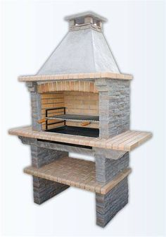 Callow Pan American Brick Masonry BBQ Grill - The Ultimate in Wood fired BBQ Grilling Masonry Bbq, Brick Masonry, Barbecue Garden, Outdoor Barbeque, Built In Bbq Grill, Barbecue Design, Brick Bbq, Backyard Fireplace, Backyard Shade