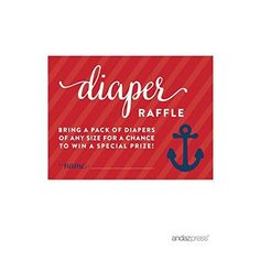 Andaz Press Nautical Baby Shower Collection Diaper Raffle Cards 30pack -- More info could be found at the image url.