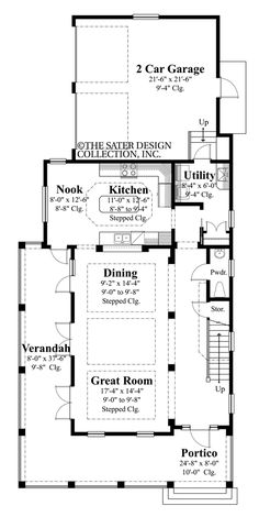 The Cabrini cottage house plan has three bedrooms and two bathrooms. It has 2178 square feet of living area. The house plan comes with a crawl space. Cottage Style House Plans, Cottage Style Homes, Small House Plans, House Floor Plans, Custom Home Plans, Custom Homes, Square Floor Plans, Crawl Space Foundation, Louvered Shutters