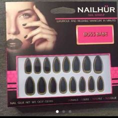 Nailhur nails Gold and black. Relished Other