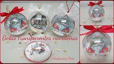 "Bolas transparentes navideñas - Dayka ""Dulce Navidad"" - YouTube Decoracion Navidad Diy, Christmas Time, Christmas Bulbs, Christmas Ideas, Xmas Baubles, Dyi Crafts, Xmas Cards, Cute Gifts, Snow Globes"