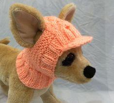 Ropa para mascotas ropa traje Crochet visera sombrero por 2CROWNS