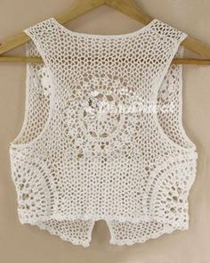Handmade Cutout Cotton Women Crochet Vest - DinoDirect.com