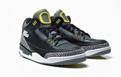 Authentic Air Jordan 3 Oregon Ducks Black