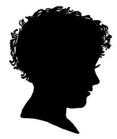 Fairy Silhouette Clip Art   Vintage Clip Art – Silhouette Boy & Girl