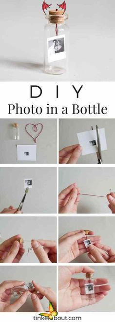 DIY Tiny Photo/Message in a Bottle as an Anniversary Gift Idea This Tiny Photo in a Bottle DIY is the perfect Valentine's Day gift idea for your significant other, your best friend or your family. It's super easy, cheap and takes only a couple of minutes. Find out more on my blog!<br> This Tiny Photo in a Bottle DIY is the perfect Valentine's Day gift idea for your significant other, your best friend or your family. It's super easy, cheap and takes only a couple of minutes. Find out more on…