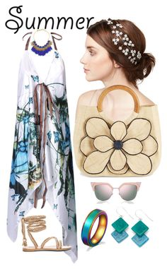 """""""Simply Summer"""" by shirley-de-gannes ❤ liked on Polyvore featuring WithChic, Lele Sadoughi, Jennifer Behr, Fendi, Mar y Sol, Encanto and teammannequin"""