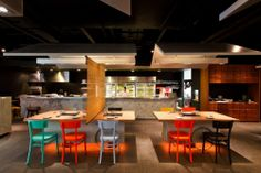 Coca Grill. notice the tables are on wheels :) Architects: Integrated Field Location: Bangkok, Thailand Area: 200 sqm Year: 2012 Photographs: Ketsiree Wongwan