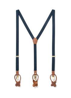 Navy Baby - Classic Navy Suspenders