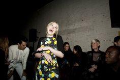 Dakota Fanning Front Row at Proenza Schouler