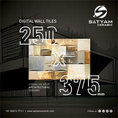 VISUALIZE YOUR ARCHITECTURAL DREAMS  Satyam Ceramic Digital Wall Tiles:- 250x375 MM  #satyamceramic #Satyamtiles #digitalwalltiles #walltiles #tiles #ceramic #kitchen #bathroom #bedroom #livingroom #10x15 #250x375 #ceramicindia #tilesmanufacturers #Morbi #gujarat #india Digital Wall, Wall Tiles, India, Dreams, Ceramics, Bathroom, Architecture, Kitchen, Art