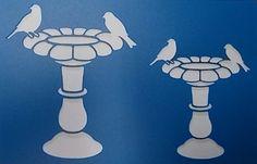 Birdbath Stencil by kraftkutz on Etsy